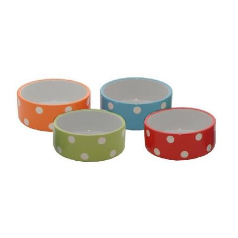 Mason Cash Brights Polka Dot Small Animal Bowl 3.5in