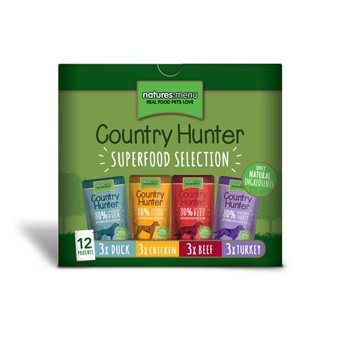 Natures Menu Country Hunter Superfood Selection Grain Free Dog Pouches 12 X 150g
