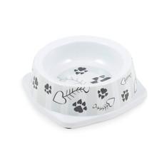 Ancol Grey Stripe Cat Bowl  Single