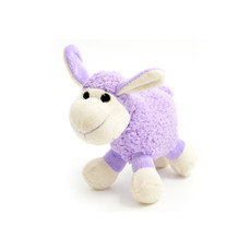 Ancol Small Bite Plush Lilac Lamb Dog Toy  15cm
