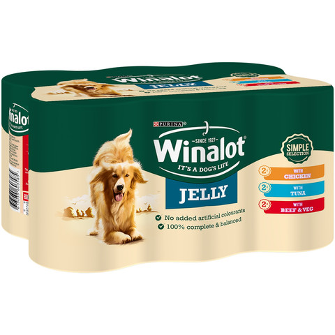 Winalot Simple Selection Mixed In Jelly Wet Dog Food 6x400g