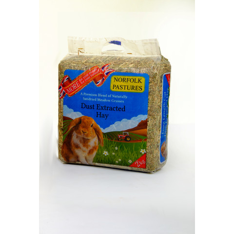 Norfolk Pastures Dust Extracted Hay 2kg