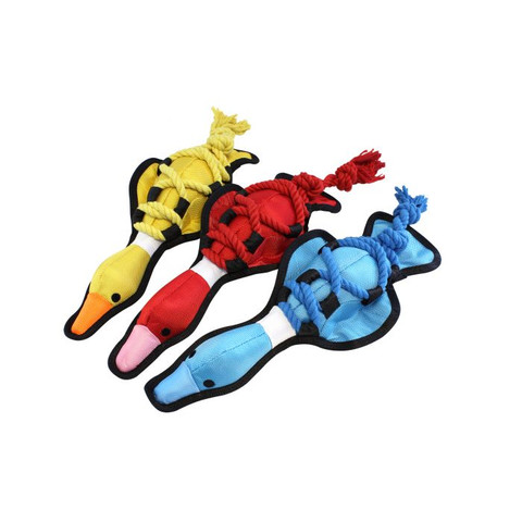 Happy Pet Cross Rope Duck Dog Toy