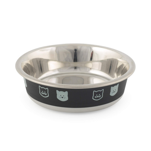 Ancol Fusion Cat Bowl Black 12cm