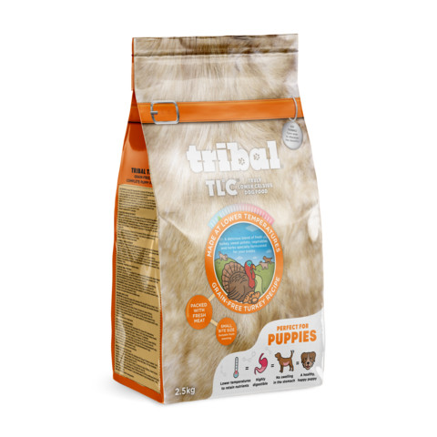Tribal Tlc Grain Free Cold Pressed Turkey Puppy Food 2.5kg