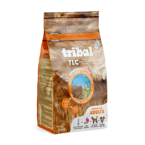 Tribal Tlc Grain Free Cold Pressed Turkey Adult Dog Food 2.5kg