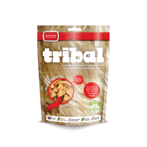 Tribal Dog Natural Health Beef & Tomato Biscuit Dog Treats 130g