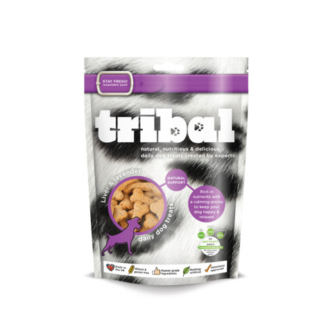 Tribal Dog Natural Support Liver & Lavender Biscuit Dog Treats 130g