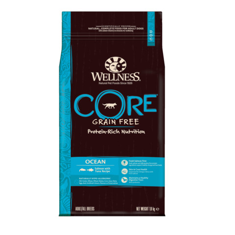 Wellness Core Ocean Fish Salmon And Tuna Grain Free Adult Dry Dog Food 1.8kg