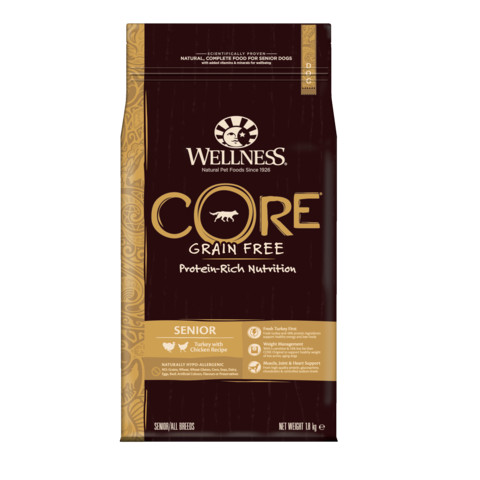 Wellness Core Senior Chicken And Turkey Grain Free Dry Dog Food 1.8kg