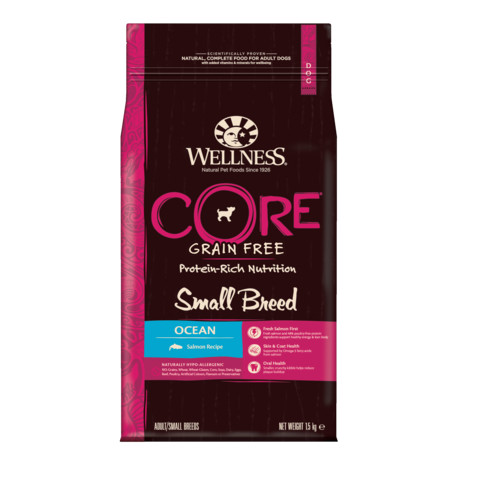 Wellness Core Small Breed Ocean Fish With Salmon Grain Free Adult Dry Dog Food 1.5kg