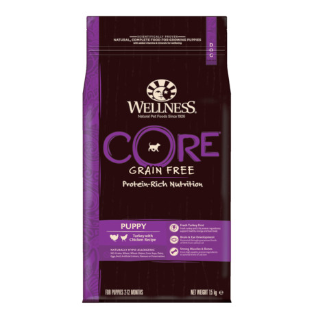 Wellness Core Puppy Chicken And Turkey Grain Free Dry Dog Food 1.5kg