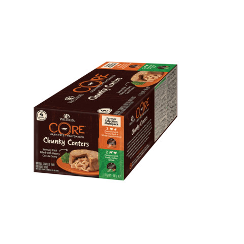 Wellness Core Chunky Centers Farmer Selection Multipack Wet Dog Food 4 X 170g