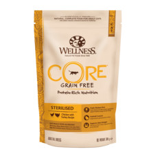 Wellness Core Sterilised Chicken And Turkey Grain Free Dry Adult Cat Food 300g