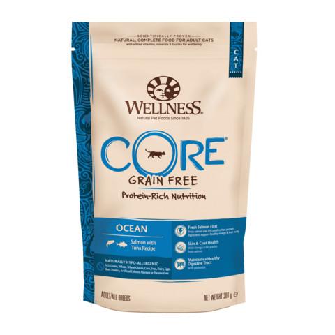 Wellness Core Ocean Fish Salmon And Tuna Grain Free Dry Adult Cat Food 300g