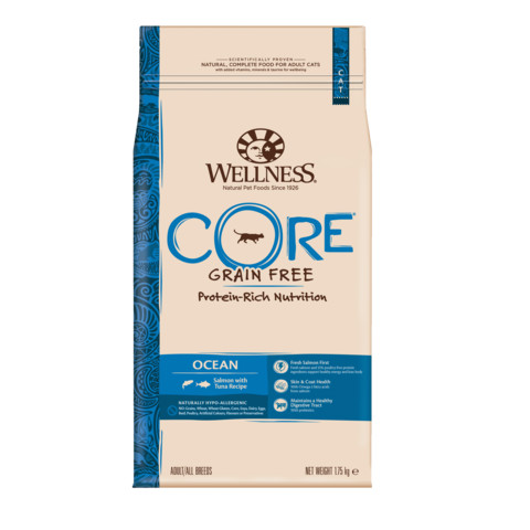 Wellness Core Ocean Fish Salmon And Tuna Grain Free Dry Adult Cat Food 1.75kg