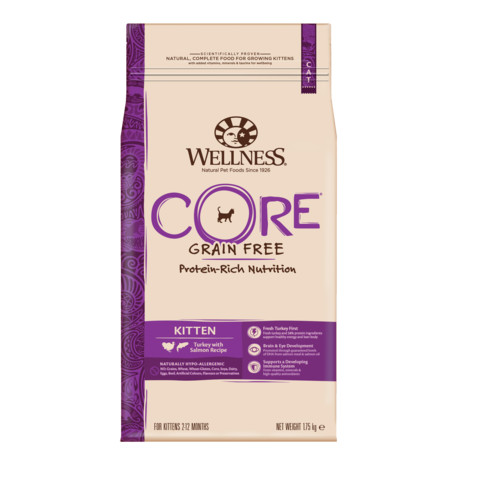 Wellness Core Kitten Turkey And Salmon Grain Free Dry Cat Food 1.75kg