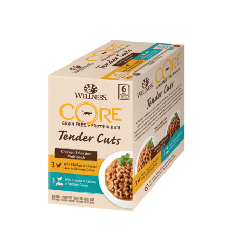 Wellness Core Tender Cuts Chicken Selection Multipack Wet Adult Cat Food 6x85g