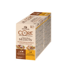 Wellness Core Signature Selects Shredded Selection Multipack Wet Adult Cat Food 8x79g