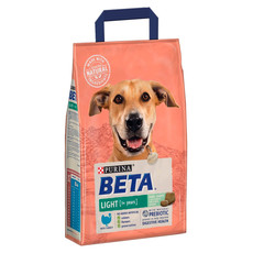 Beta Adult Light Dog Food With Turkey 2kg