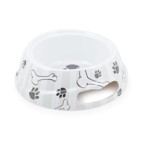 (d) Grey Stripe Dog Bowl L