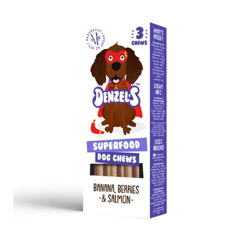 Denzel's Superfood Dog Chews 3 Pack
