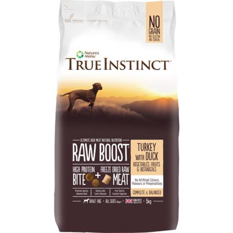 Natures Menu True Instinct Raw Boost Turkey And Duck Dry Dog Food 5kg