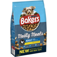 (d) Bakers Meaty Meals Adult Dog Food With Chicken 2.7kg