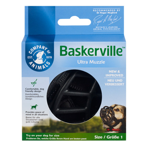 The Company Of Animals Baskerville Ultra Dog Muzzle Size 1