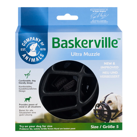 The Company Of Animals Baskerville Ultra Dog Muzzle Size 5