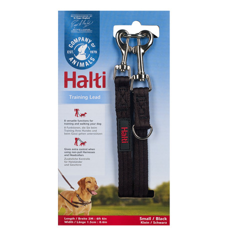 The Company Of Animals Black Halti Training Dog Lead Small To Large