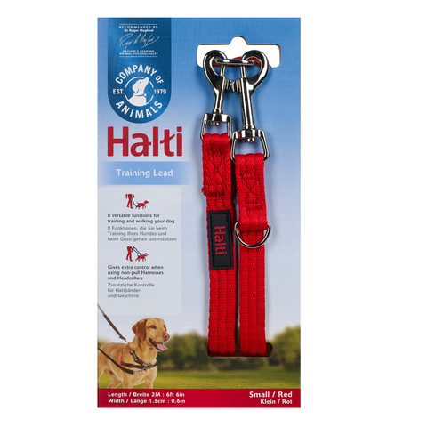 The Company Of Animals Halti Training Dog Lead Red Small