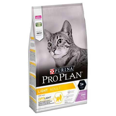 Pro Plan Light Adult Dry Cat Food With Optilight Turkey 3kg