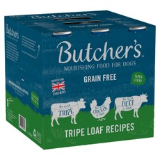 Butchers Grain Free Tripe Loaf Recipes Cans Wet Dog Food 400g X 18