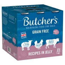 Butchers Grain Free Meaty Recipes Cans In Jelly Wet Dog Food 400g X 18