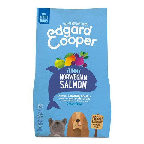 Edgard & Cooper Adult Grain Free Dry Dog Food With Fresh Norwegian Salmon 2.5kg
