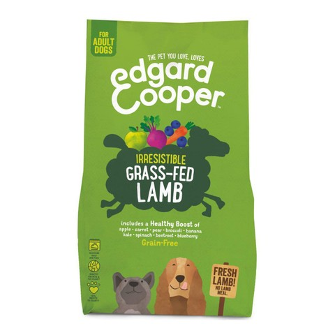 Edgard & Cooper Adult Grain Free Dry Dog Food With Fresh Grass-fed Lamb 2.5kg
