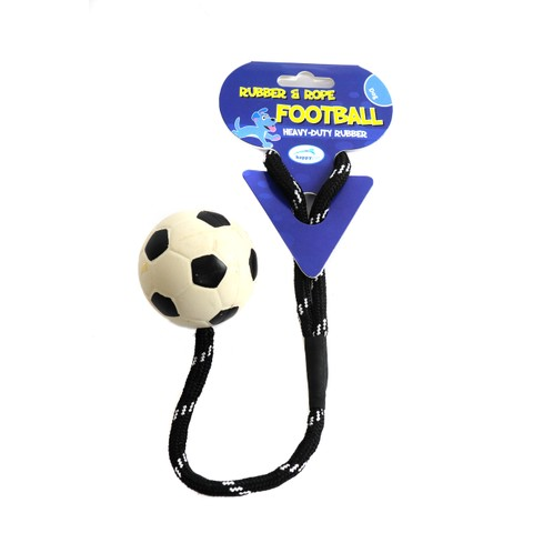 Happy Pet Soccer Rope Ball Dog Toy 2.5 Inch