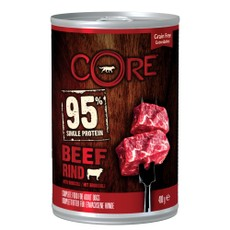 Wellness Core 95% Beef With Broccoli Wet Adult Grain Free Dog Food 6 X 400g