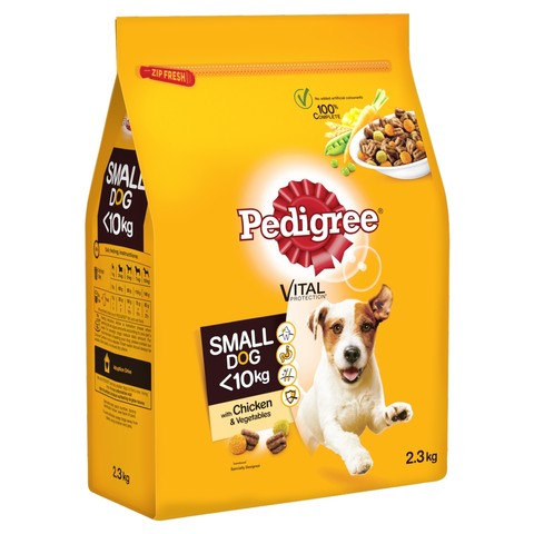 Pedigree Small Dog Complete Dry With Chicken And Vegetables 2.3kg