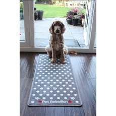 Stop Muddy Paws Spotty Grey Home Barrier Rug 45x100m