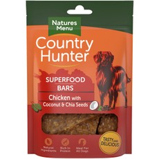 Natures Menu Country Hunter Superfood Bar Chicken With Coconut & Chia Seeds 100g