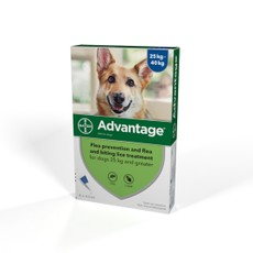 Advantage 400 Spot-on Solution For Dogs 25kg - 40kg 4 Pipette