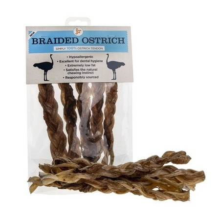 Jr Pet Products Braided Ostrich 5 Pack