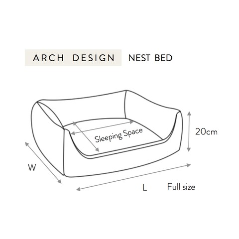 Project Blu Adriatic Domino Bed Grey S