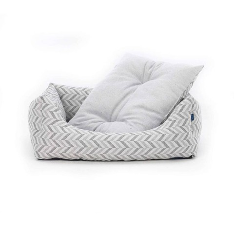 Project Blu Goa Domino Bed Grey Chevron S