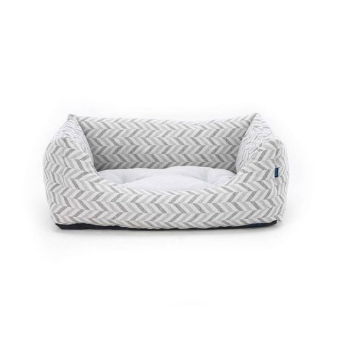 Goa Domino Bed Grey Chevron S