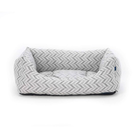 Goa Domino Bed Grey Chevron M