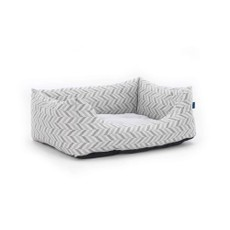 Goa Domino Bed Grey Chevron Xl