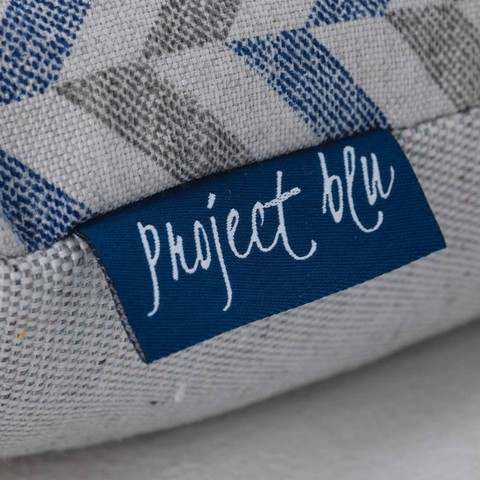 Project Blu Danube Domino Bed Blue Chevron Xs